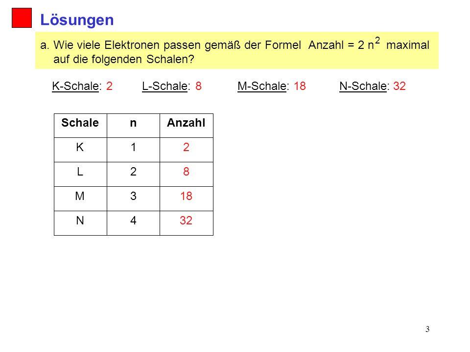 3 Lösungen Anzahl = 2 n 2 a.