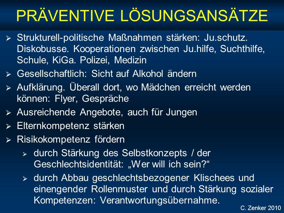 PRÄVENTIVE LÖSUNGSANSÄTZE Strukturell-politische Maßnahmen stärken: Ju.schutz.