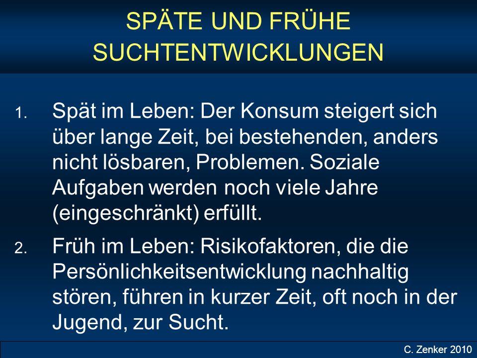 SPÄTE UND FRÜHE SUCHTENTWICKLUNGEN 1.
