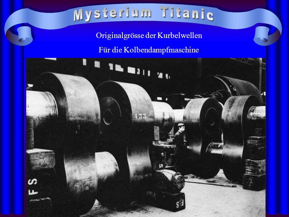Originalgrösse der Kurbelwellen Für die Kolbendampfmaschine