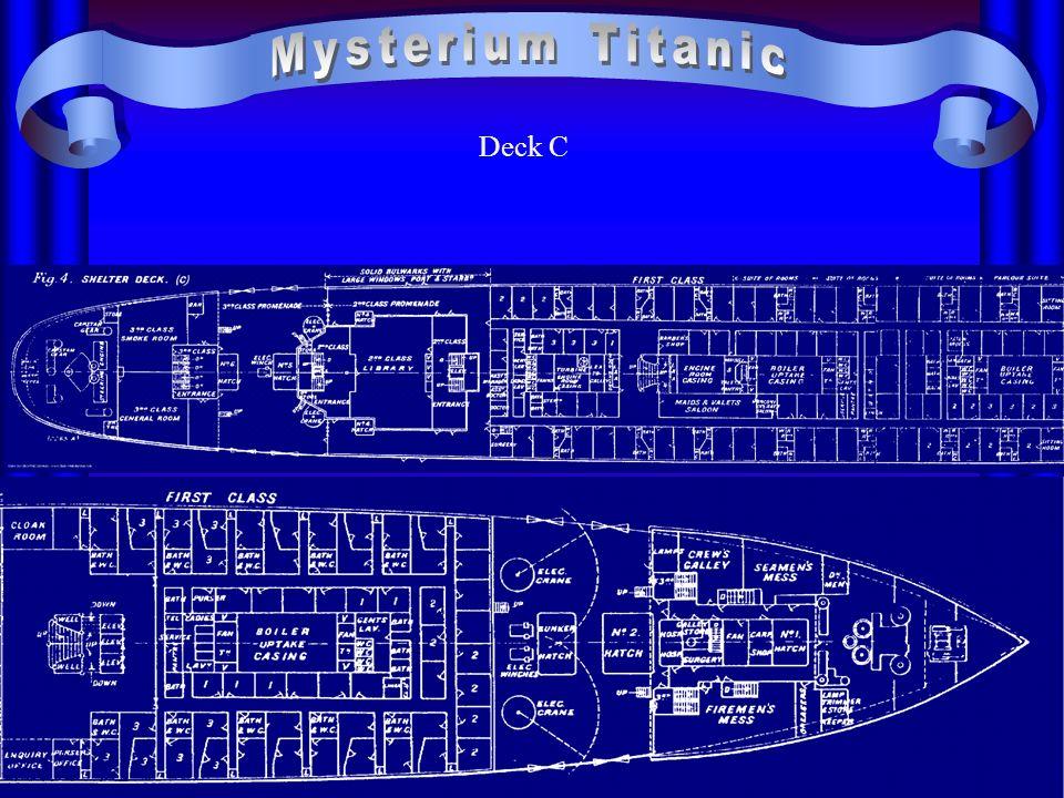 Zunächst planten die Konstrukteure der Titanicdie Installation von 64 Rettungsbooten, jedoch setzte sich Bruce Ismay, der Geschäftsführer der Reederei, dafür ein, dass nur die Hälfte dieser Rettungsboote installiert werden sollte, um eine bessere Sicht auf dem auch als Promenade dienenden Bootsdeck zu gewährleisten.