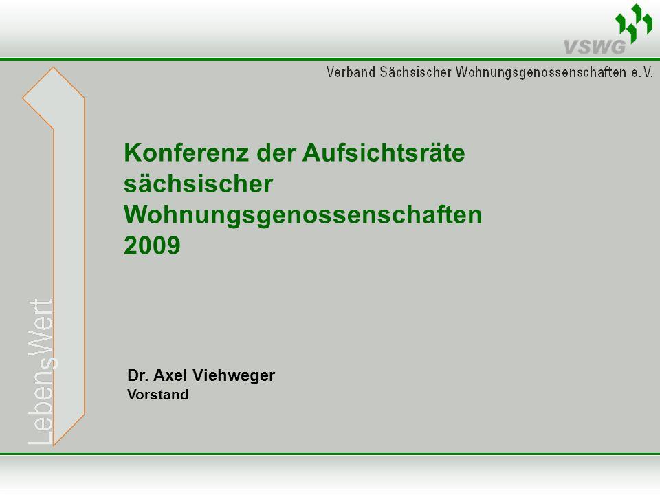 Dr. Axel Viehweger Vorstand Konferenz der Aufsichtsräte sächsischer Wohnungsgenossenschaften 2009