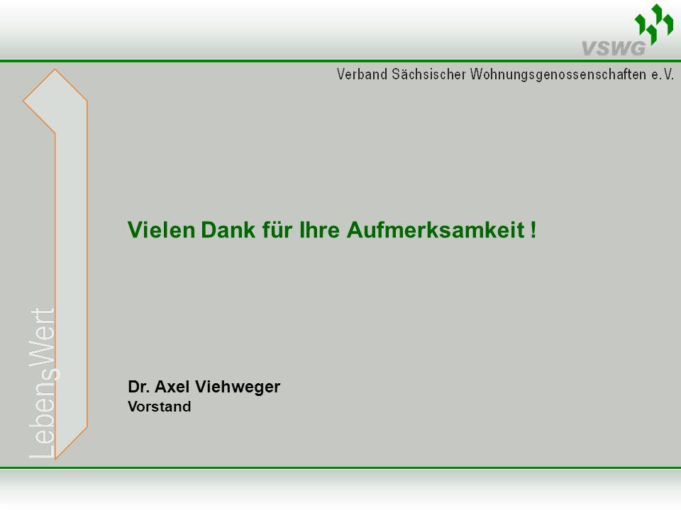 Vielen Dank für Ihre Aufmerksamkeit ! Dr. Axel Viehweger Vorstand