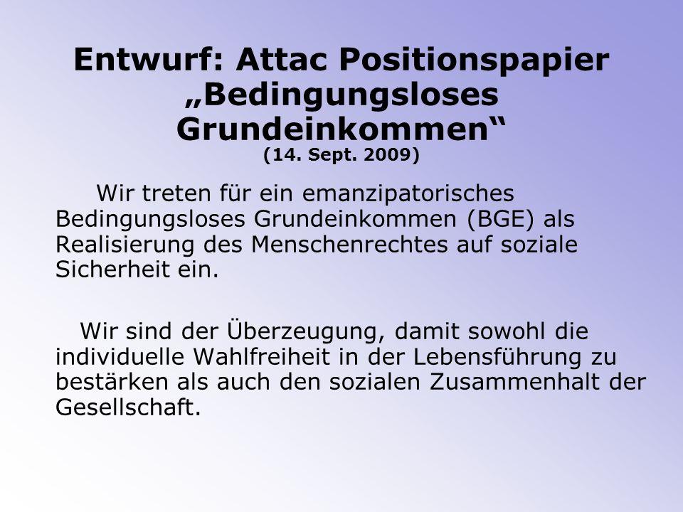 Entwurf: Attac Positionspapier Bedingungsloses Grundeinkommen (14.