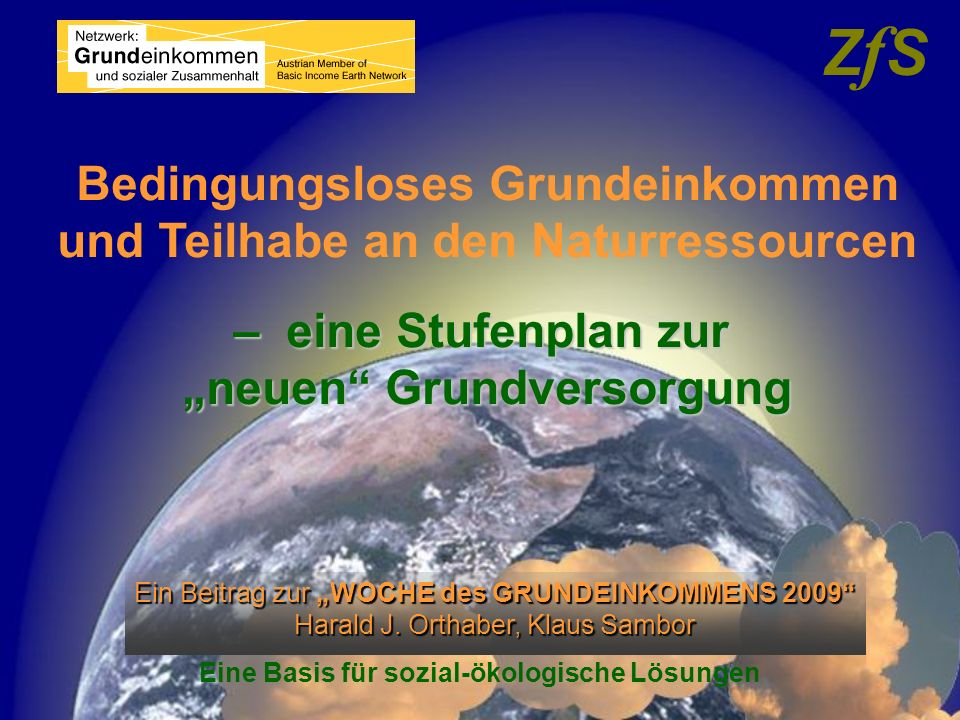 gemeinsame Aktivitäten verbindende Funktionen und Wirkungen mit anderen Initiativen BGE & neue Grundversorgung BGE & neue Grundversorgung Komplementärwährungen & Ressourcengeld Komplementärwährungen & Ressourcengeld Solidarökonomie /3.