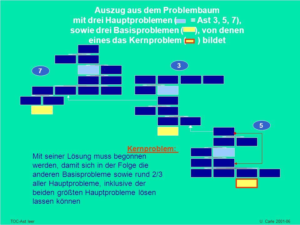 3 332 5 7 Auszug aus dem Problembaum mit drei Hauptproblemen ( = Ast 3, 5, 7), sowie drei Basisproblemen ( ), von denen eines das Kernproblem ( ) bild
