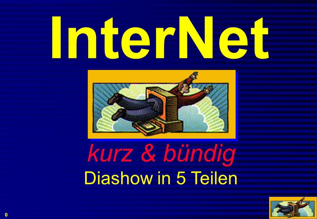 InterNet kurz & bündig Diashow in 5 Teilen 0