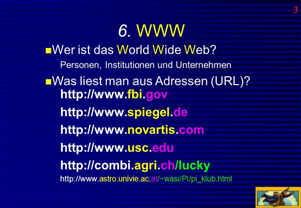 5. Remote Access Zugriff auf entfernte Rechner -Bibliothekenkataloge (ETH Zürich) - oft auch (noch) mit Telnet -Datenbanken -Online Telefon-, Adressbü