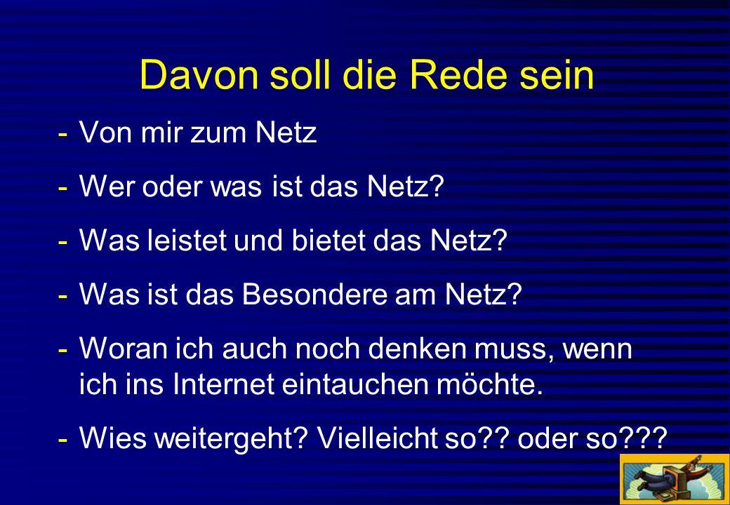 1896 «Wer braucht schon ein Telephon?» 1953 «Was esch en fern Seher?» 1975 «We can live without computers!» 1989 «Bruuchts jetz au no en Fax?» 1994 «Internet.