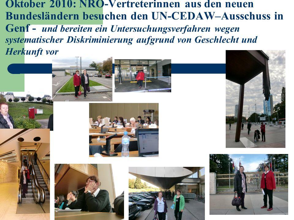 6 Vorenthaltung des Versorgungsausgleichs nach der Vereinigung für die in der DDR geschiedene Frauen ist identifiziert als… Verstoss gegen die Menschenrechte dieser Frauen nach CEDAW Art.