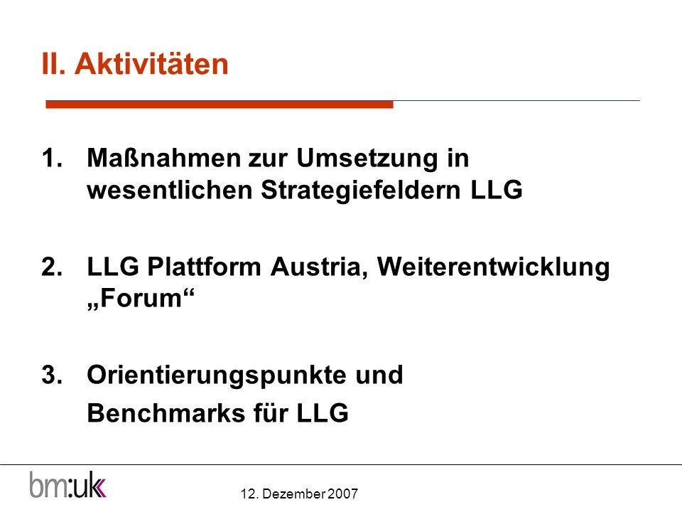 12.Dezember 2007 Ergebnisse LLG / Disseminierung III.