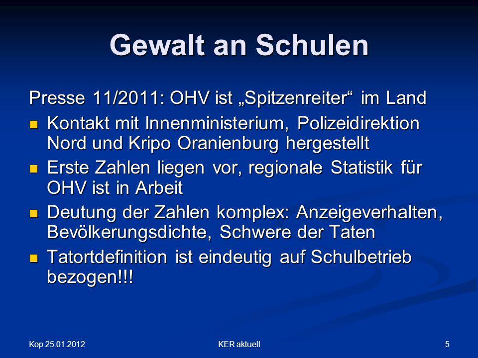 Kop 25.01.2012KER aktuell6 Download Die angeführten Dokumente und Broschüren können unter WWW.KER-OHV.DE herunter geladen werden.