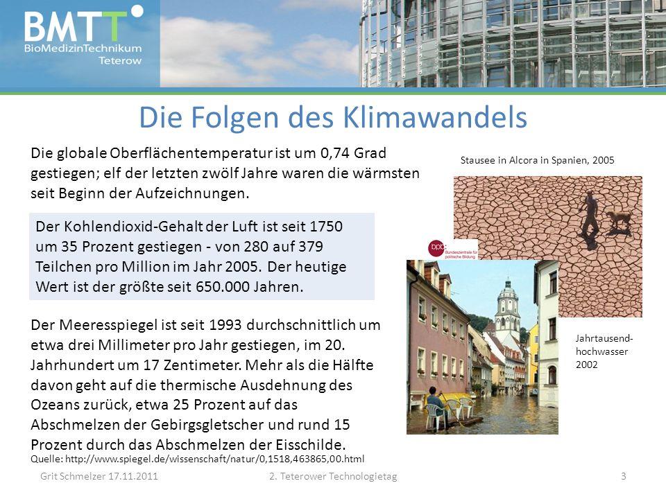 Kosten des Klimawandels in Deutschland Grit Schmelzer 17.11.20112.