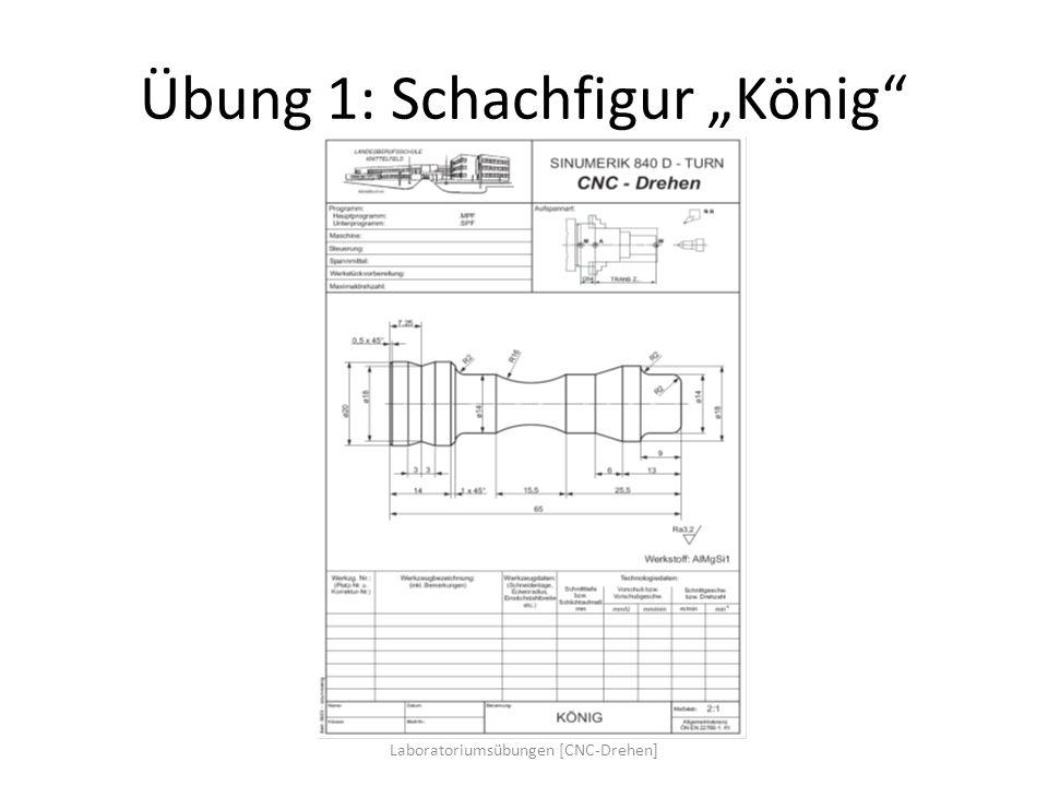 Übung 1: Schachfigur König Laboratoriumsübungen [CNC-Drehen]