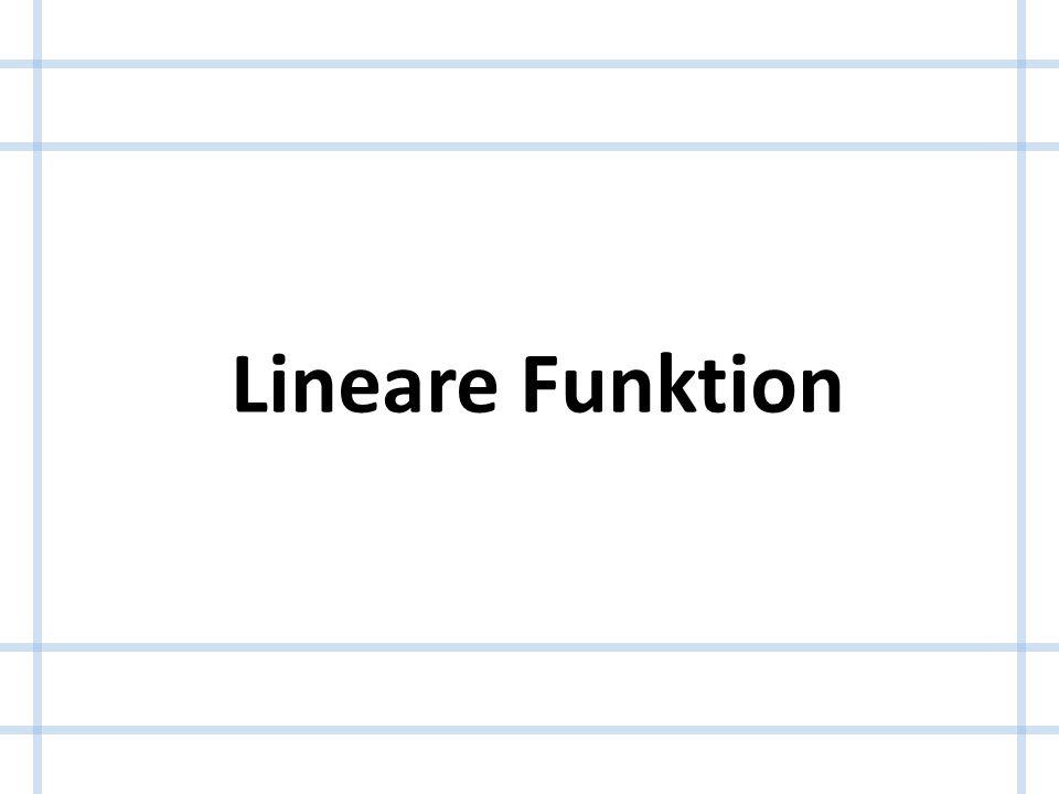 Was ist eine lineare Funktion .