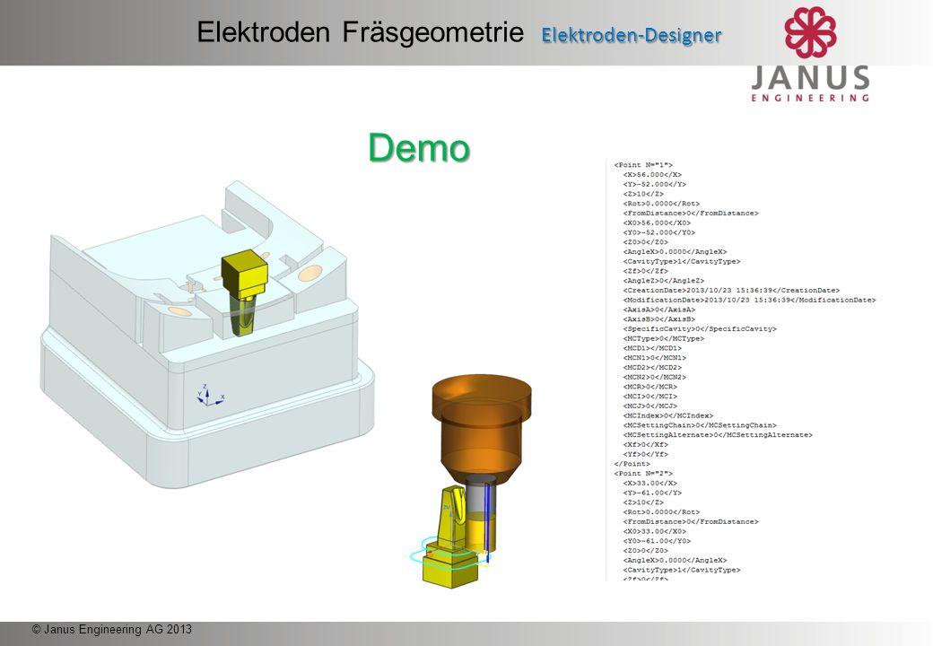 © Janus Engineering AG 2013 NX2EDM Überblick NX2EDM Elektroden Position an Erodiermaschine Phase 5: Elektroden Position an Erodiermaschine