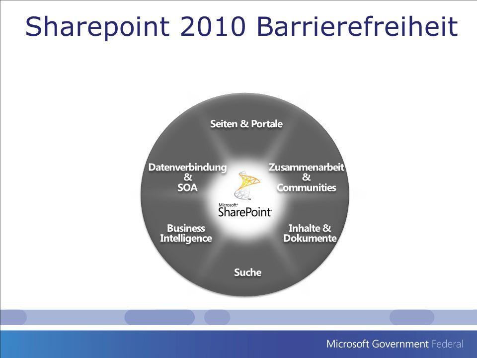 Sharepoint 2010 Barrierefreiheit