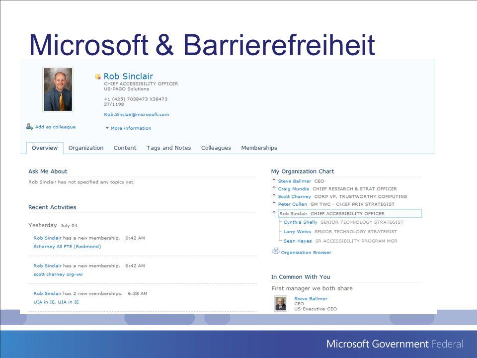 Microsoft & Barrierefreiheit