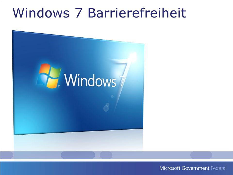 Windows 7 enthält viele tiefgreifende Verbesserungen zur Barrierefreiheit Center für erleichterte Bedienung– ein zentraler Platz um die Einstellungen zur Barrierefreiheit und Programm- einstellungen vorzunehmen.