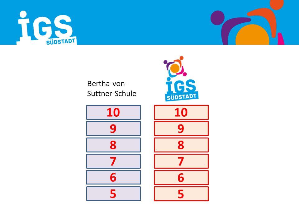 5 7 9 8 10 5 6 7 8 9 6 Bertha-von- Suttner-Schule