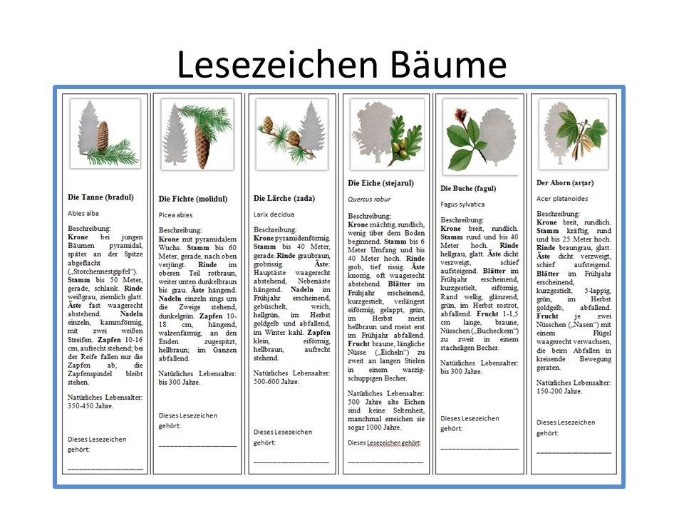 Lesezeichen Bäume