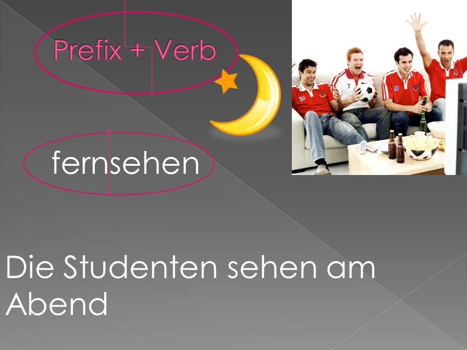 fernsehen Die Studenten sehen am Abend