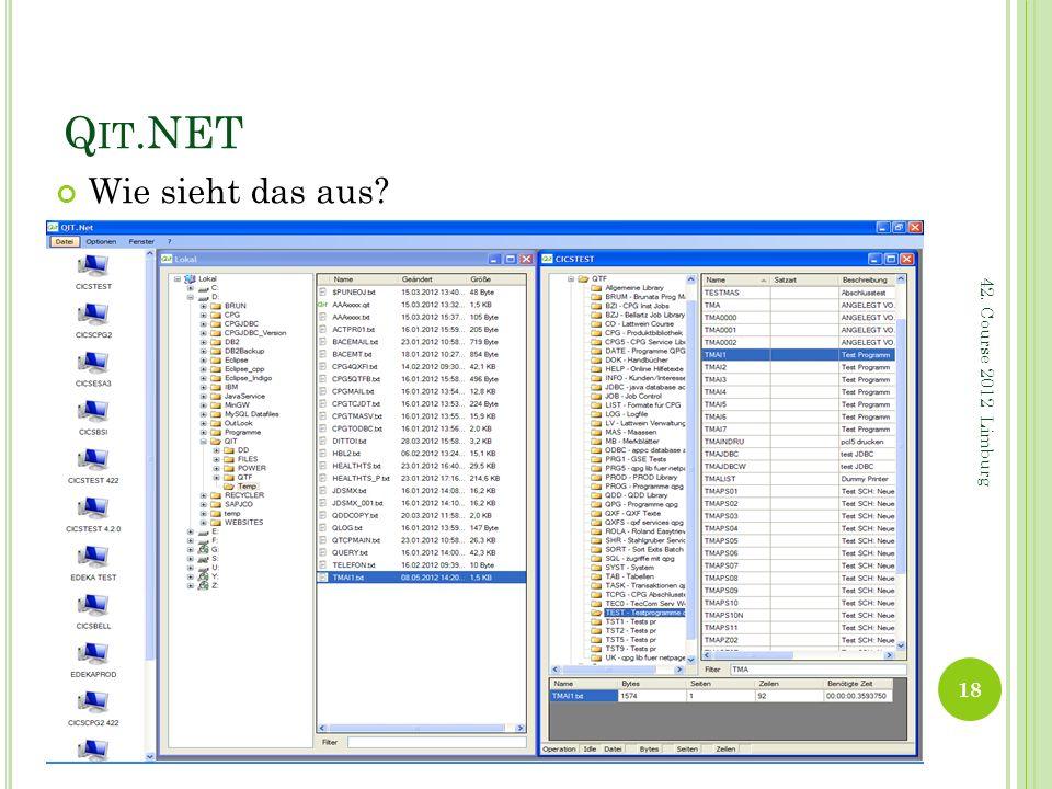 Q IT.NET Wie sieht das aus? 18 42. Course 2012 Limburg