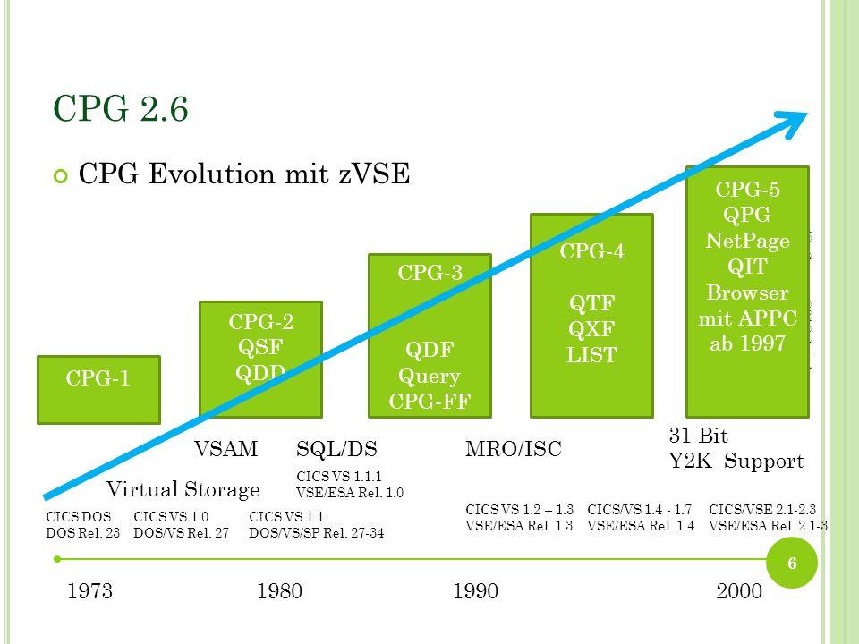 TCP/IP DNS N AMENSAUFLÖSUNG Bisher unterstützt: CPGJDBCOnline und Batch Qit.NETCPG5 FTP In Planung für 2.6: QCFTCPML Mail Online und Batch CPGSHELLAusführen von VSE auf Windows/Linux 47 42.