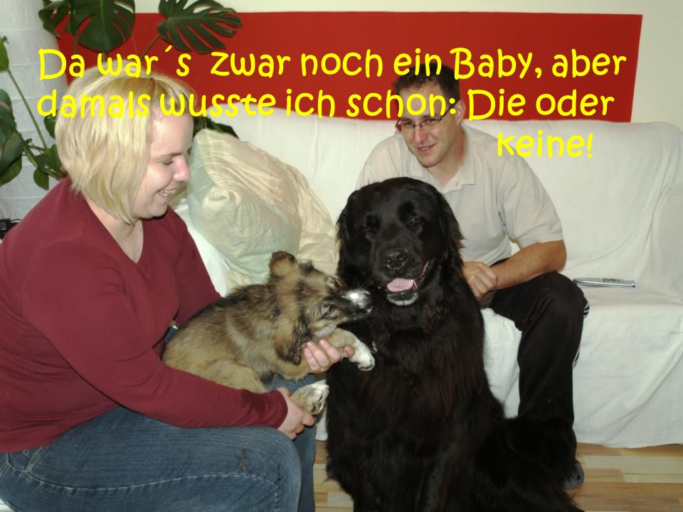 Da war´s zwar noch ein Baby, aber damals wusste ich schon: Die oder keine!