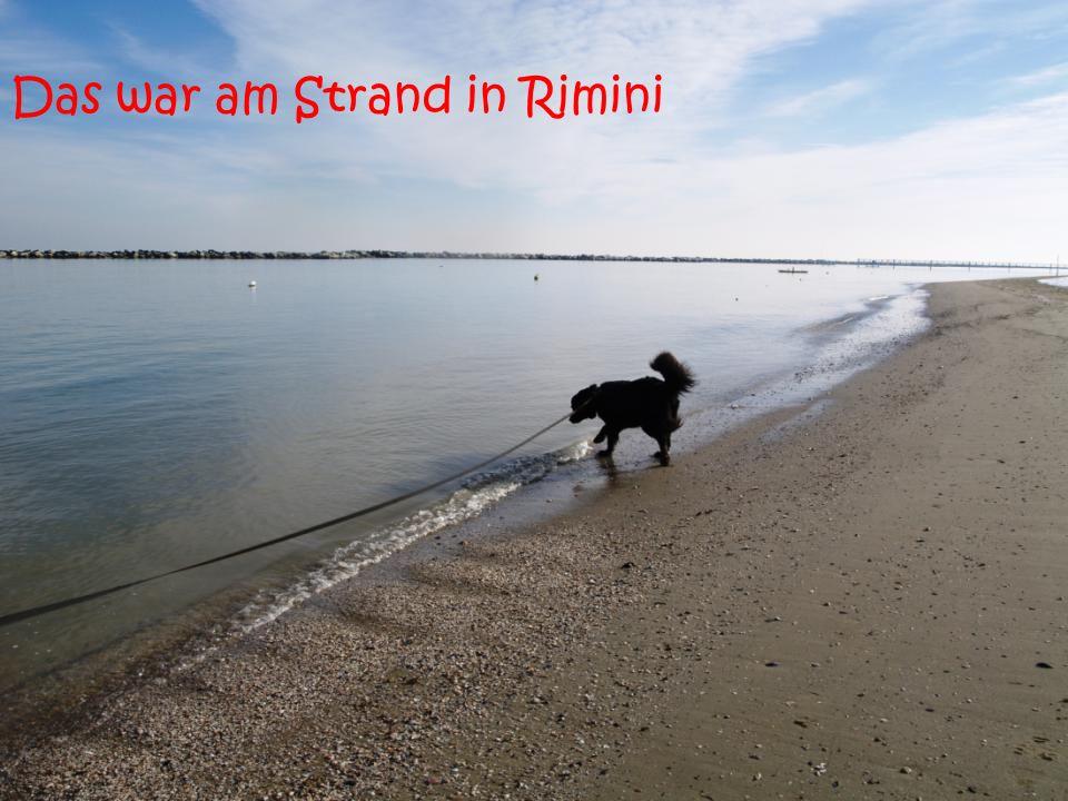 Das war am Strand in Rimini