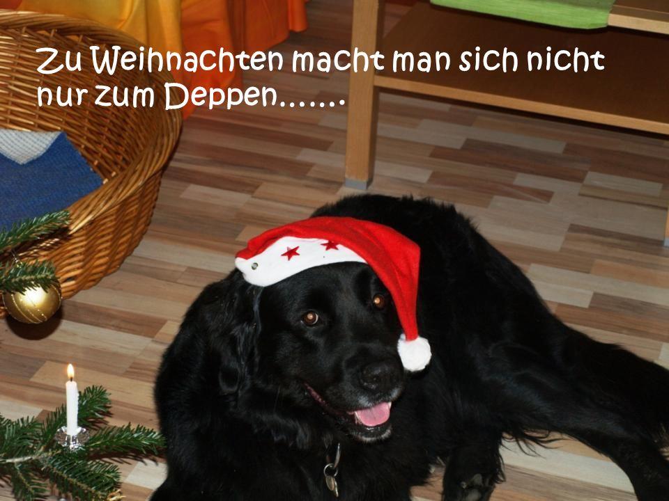 Zu Weihnachten macht man sich nicht nur zum Deppen…….