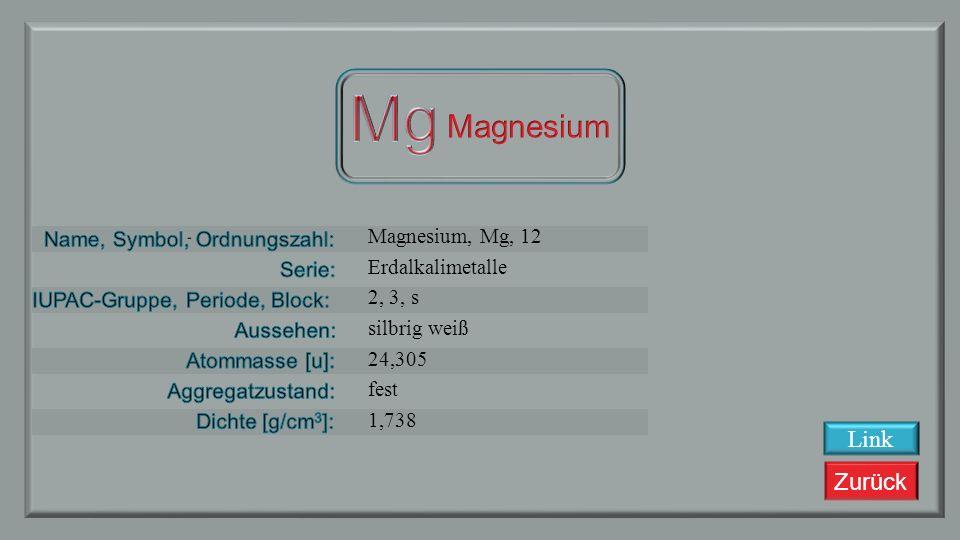Zurück Natrium, Na, 11 Alkalimetalle 1, 3, s silbrig weiß 22,98977 fest 0,968 Link