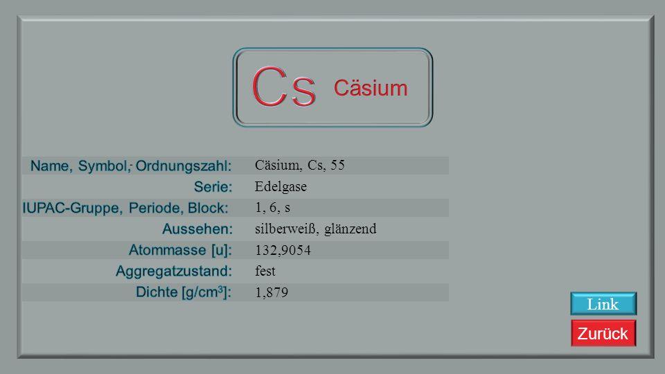 Zurück Xenon, Xe, 54 Edelgase 18, 5, p farblos 131,293 gasförmig 0,005887 Link