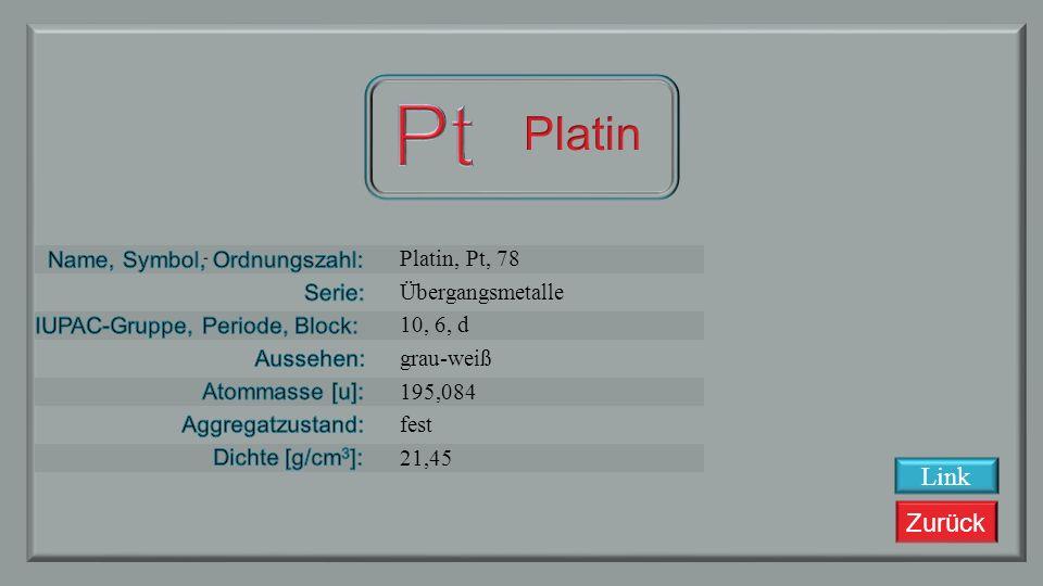 Zurück Iridium Übergangsmetalle 9, 6, d silbrig weiß 192,217 fest 22,56 Link