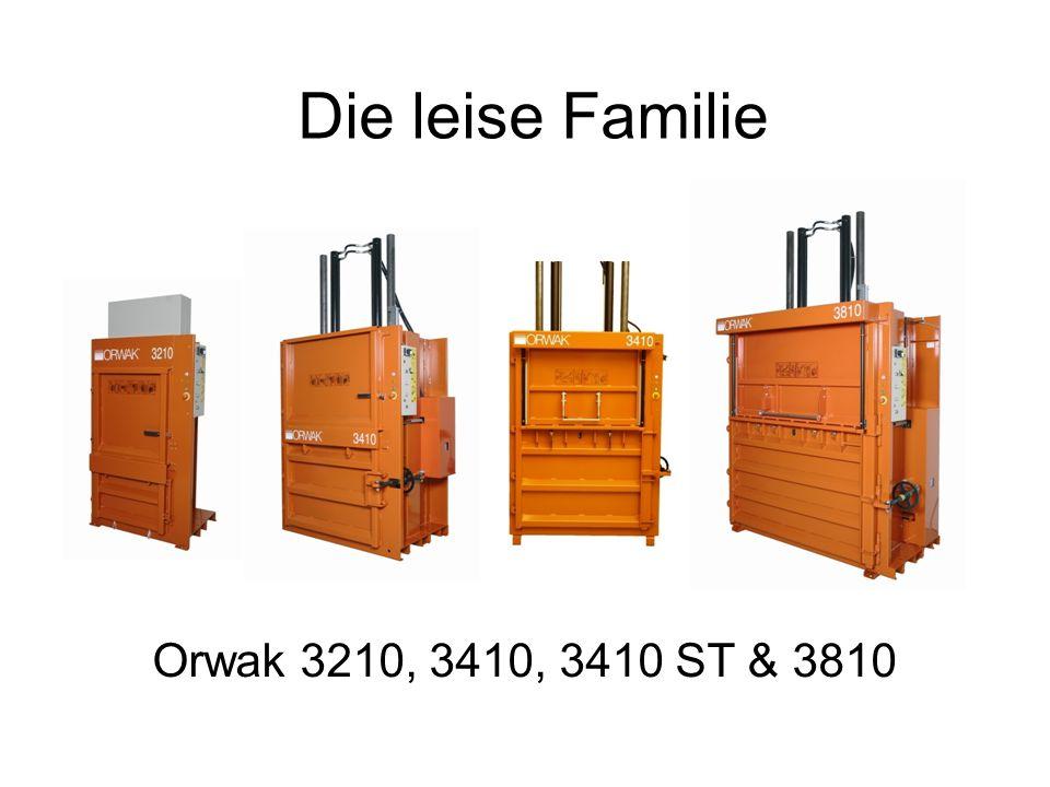 ORWAK 3210,3410 & 3810 Im 2007 hat Orwak drei neue Ballenpressen – die leise Familie lanciert.
