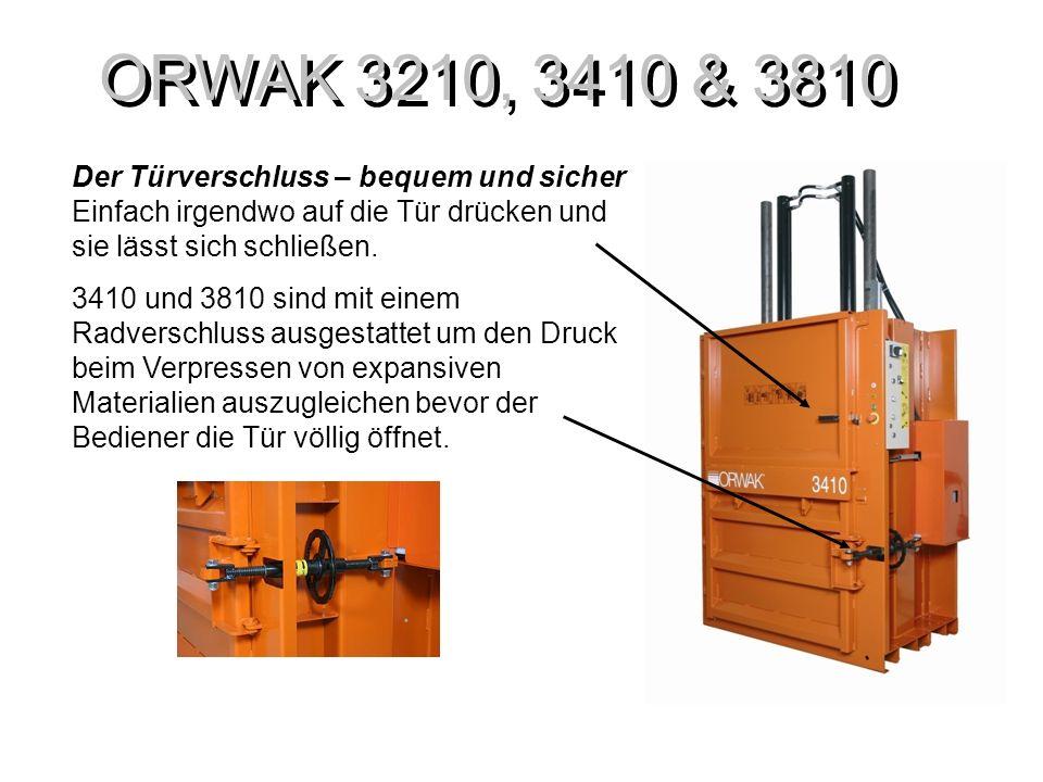 ORWAK 3210,3410 & 3810 Phasenumkehrung Die neuen Modelle sind mit einem Phasenwender ausgestattet und damit wird es einfacher die Ballenpressen, wenn nötig, an eine andere Stelle zu platzieren.