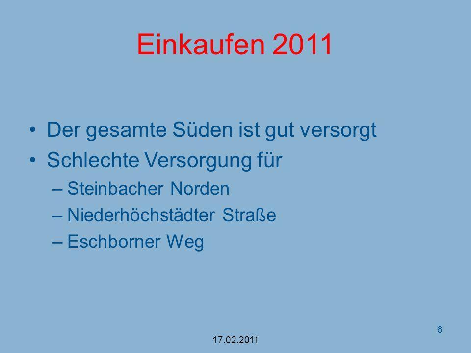 Die Entscheidung Lebensmittelmarkt (CDU / FDP) Ablauf der Bindefrist November 2010 Verkauf zugunsten des Rewe- Konzerns Wohnbebauung (SPD/ tw.Grüne) Nutzung für Wohnbebauung Sinnvolle Ergänzung der Wohngebiete Eschborner Weg und Hinterer Taubenzehnter 17.02.2011