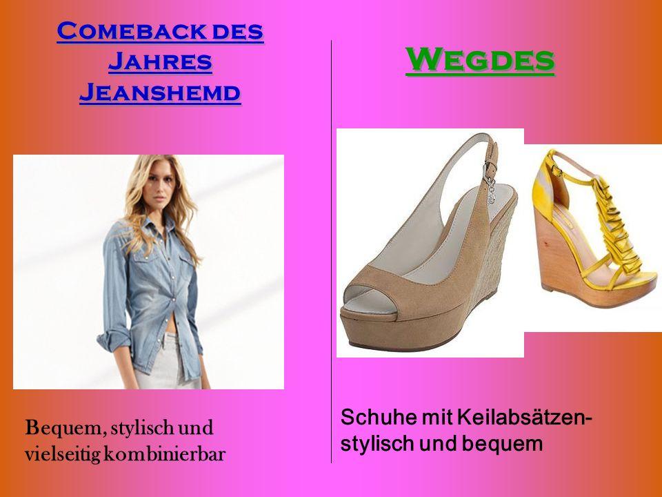 Bequem, stylisch und vielseitig kombinierbar Comeback des Jahres Jeanshemd Wegdes Schuhe mit Keilabsätzen- stylisch und bequem