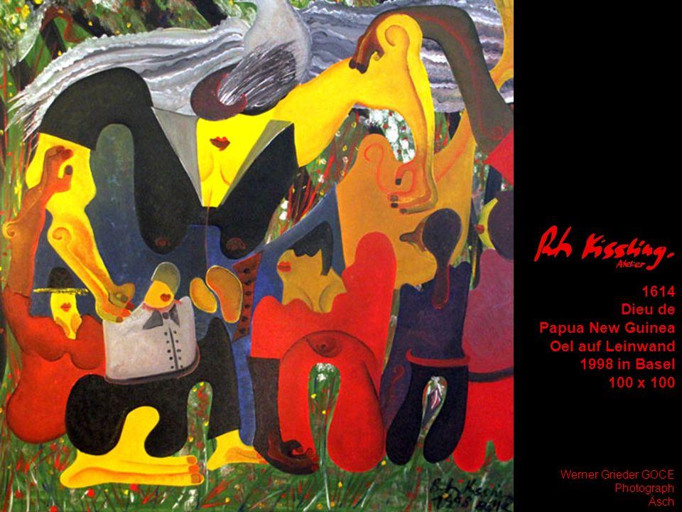 1614 Dieu de Papua New Guinea Oel auf Leinwand 1998 in Basel 100 x 100 Werner Grieder GOCE Photograph Äsch