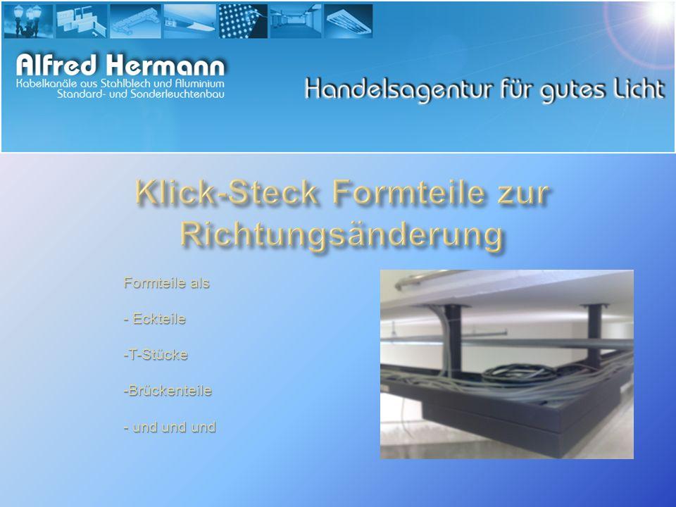 Formteile als - Eckteile -T-Stücke -Brückenteile - und und und