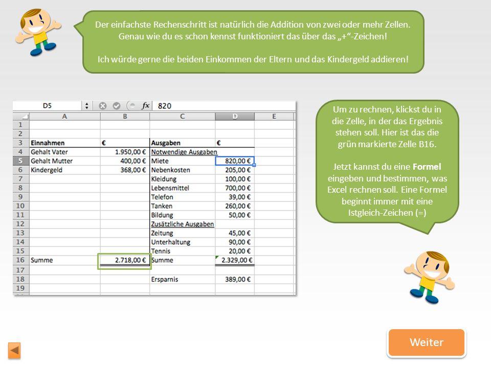 Lass uns loslegen! Lass uns loslegen! Du weißt jetzt, wie eine Excel-Tabelle aufgebaut ist. Deshalb können wir jetzt herausfinden, wie man mit Excel v