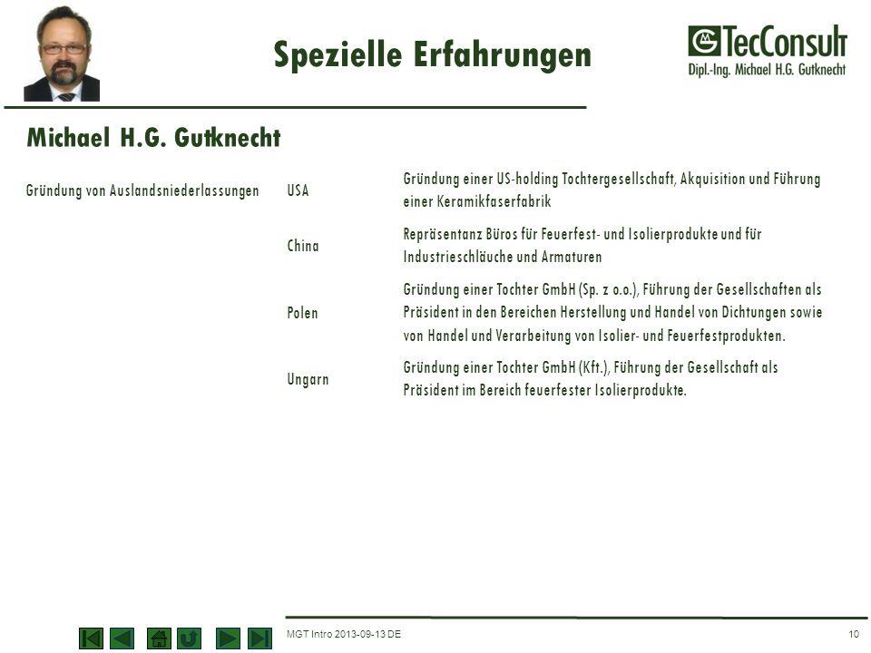 MGT Intro 2013-09-13 DE Spezielle Erfahrungen 10 Gründung von AuslandsniederlassungenUSA Gründung einer US-holding Tochtergesellschaft, Akquisition un