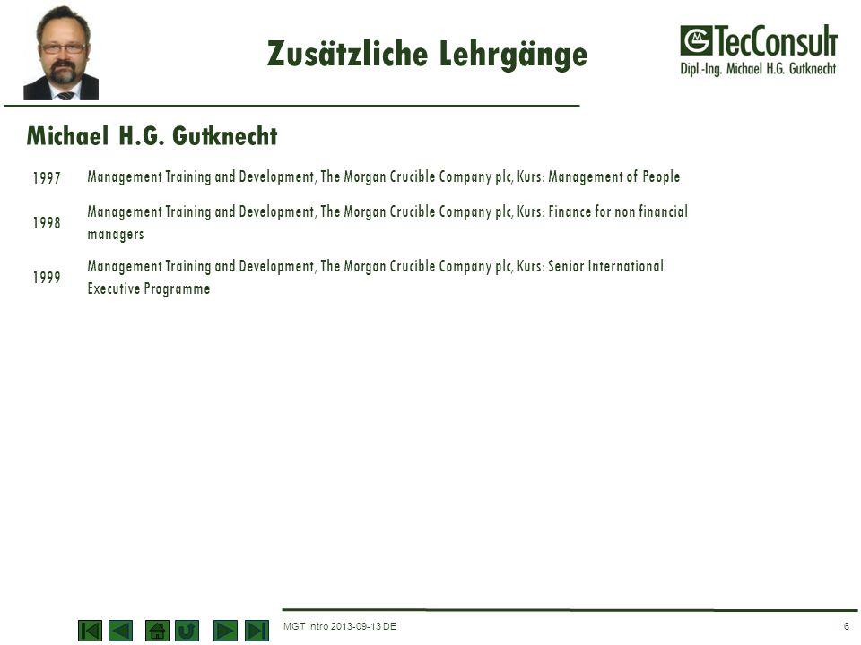 MGT Intro 2013-09-13 DE Zusätzliche Lehrgänge 6 1997 Management Training and Development, The Morgan Crucible Company plc, Kurs: Management of People