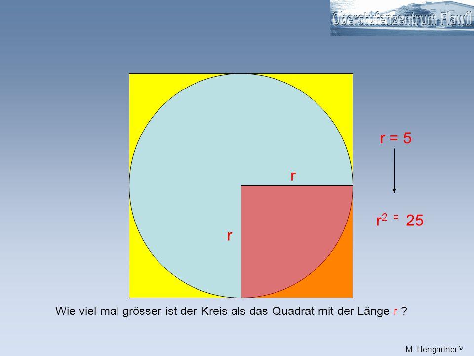 M.Hengartner © 1712131415 891011 4567 123 16 18 19 der Kreisfläche = 19 Die ganze Kreisfläche.