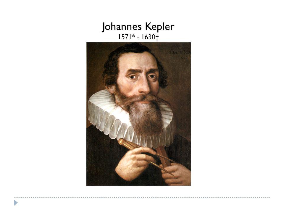 Johannes Kepler 1571* - 1630