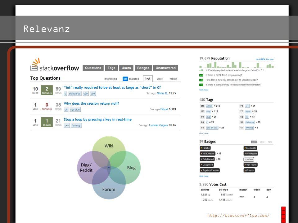 Relevanz http://www.foursquare.com/