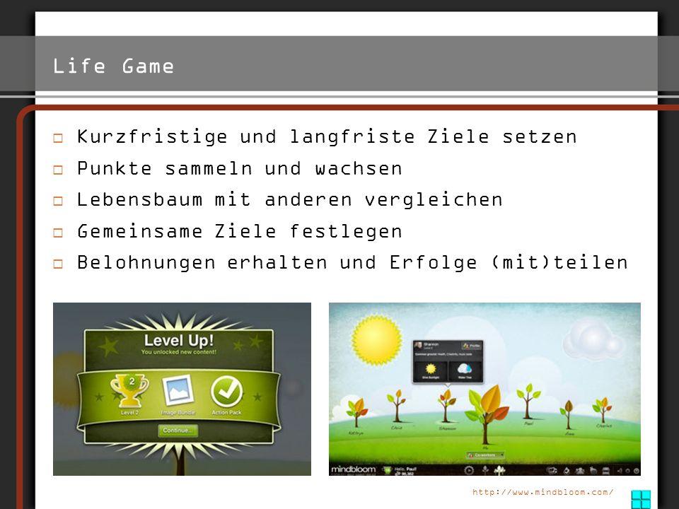 Life Game http://www.mindbloom.com/