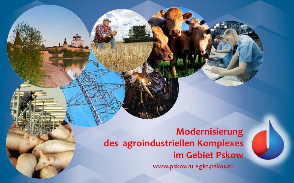 www.pskov.ru gkt.pskov.ru Modernisierung des agroindustriellen Komplexes im Gebiet Pskow