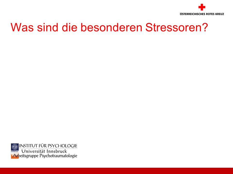 Was sind die besonderen Stressoren?