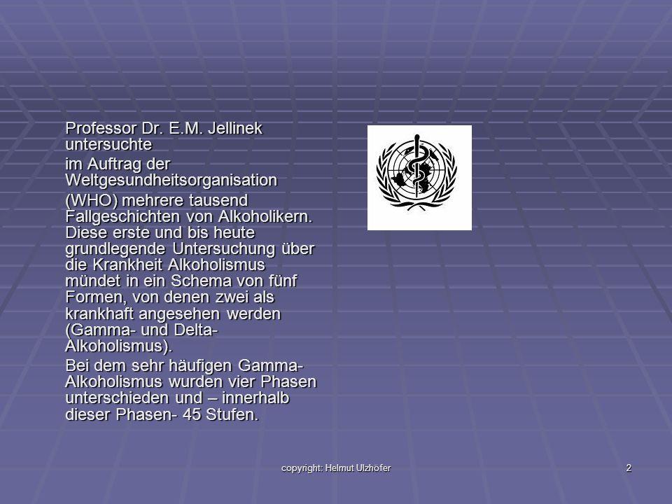 copyright: Helmut Ulzhöfer2 Professor Dr. E.M. Jellinek untersuchte im Auftrag der Weltgesundheitsorganisation (WHO) mehrere tausend Fallgeschichten v